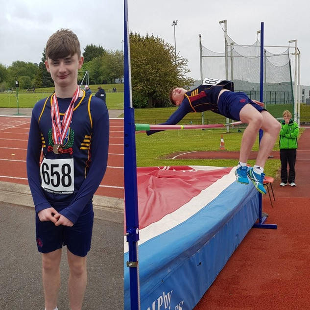 1.Congratulations to Oakgrove College pupil Sean-Paul Cullen who came 2nd in High Jump and 3rd in 200m at the Ulster Athletics District C Championships. Well done Sean-Paul.