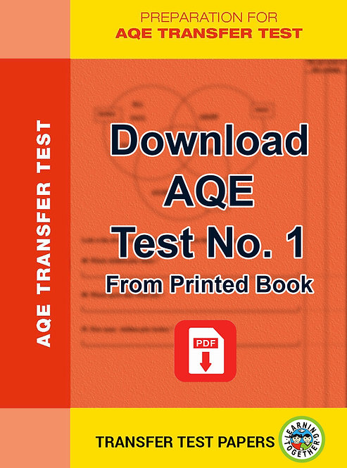 PDF Download AQE Transfer Test no 1 for immediate use