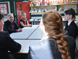 Steven Agnew, MLA and leader of the Green Party Visits Erne Integrated College
