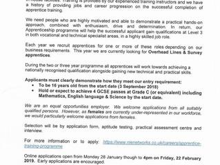 NIE 2019 Apprenticeship Recruitment