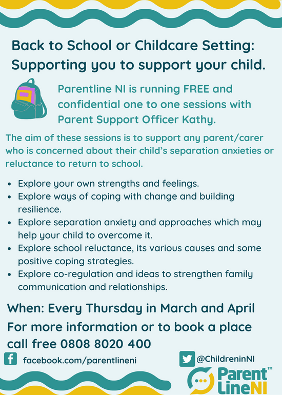 Back to School or Childcare Setting: Supporting you to support your child.