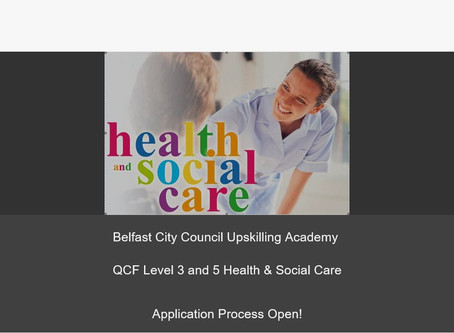 Belfast City Council Funding - Social Care Courses Commencing May 2020