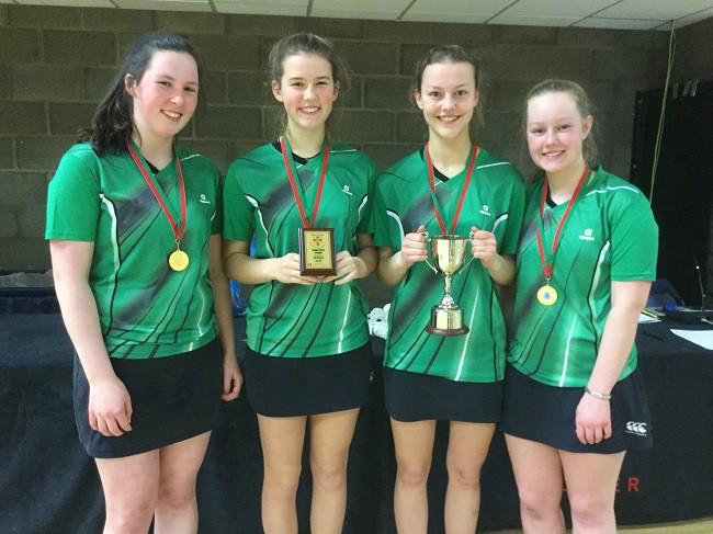 Senior badminton Girls league winners 2020