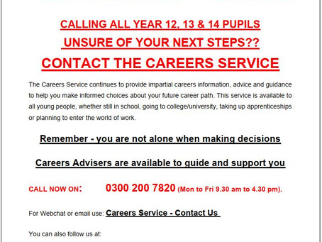 Careers Service - Bulletin for Young People - May 2020