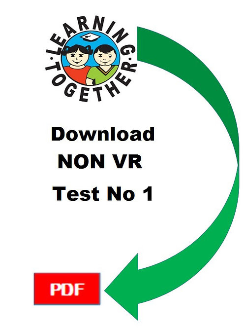 11+ Non-Verbal Reasoning Test 1
