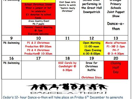 Cedar News - December Calendar