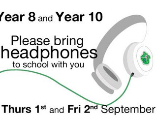 Reminder - Year 8 and Year 10