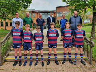 Three Valleys Veterinary Sponsor kit for the junior rugby squad