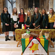 Students participating in a special Ecumenical Liturgy to celebrate World Women's Day of Prayer