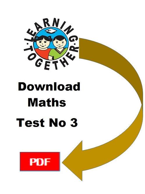 11+ Mathematics Test 3