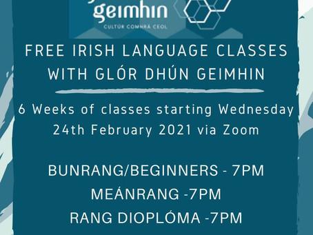 Ranganna Gaeilge Ghlór Dhún Geimhin Posters