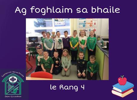 Rang 4, ag foghlaim sa bhaile/ Home Learning