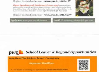 PWC School Leaver & Beyond Opportunities