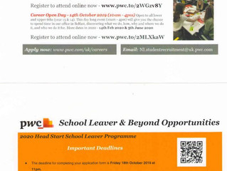 PWC School Leaver & Beyond Opportunities