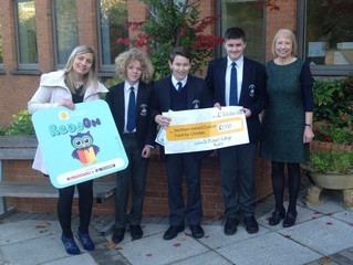 Year 8 raise £1,930 for the Northern Ireland Cancer Fund for Children.