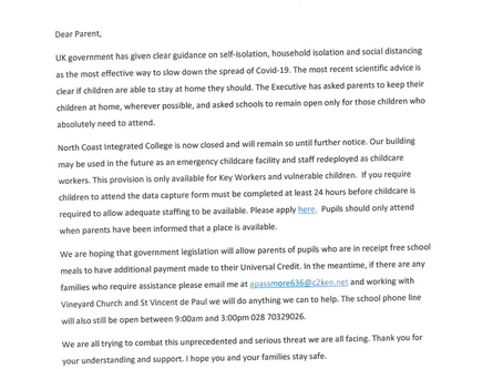 School Update 23rd March 2020
