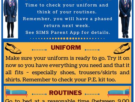 School Restart Countdown: 6 days to go!