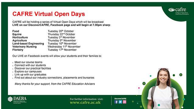 CAFRE Virtual Open Days Poster.jpg