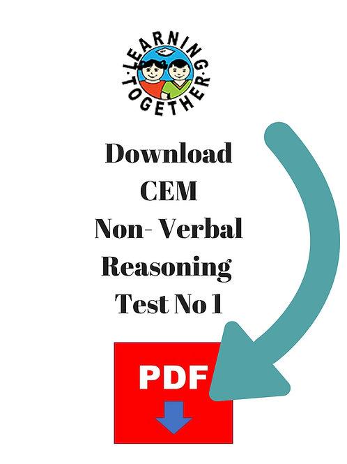 CEM 11+ Non-Verbal Reasoning Test 1