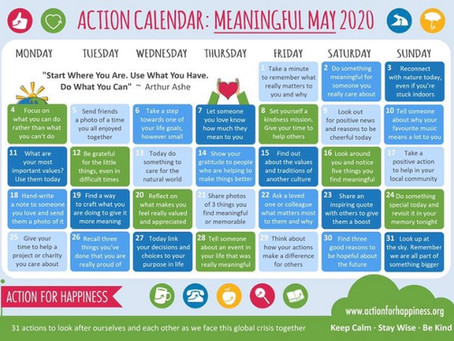 Action Calendar- Meaningful May