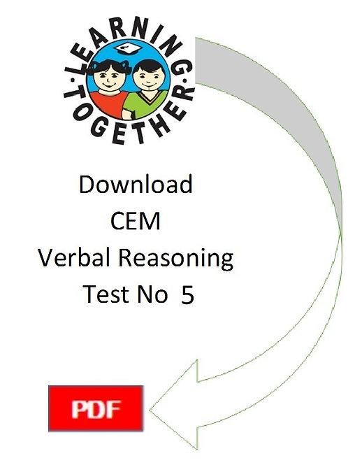 CEM 11+ Verbal Reasoning test 5