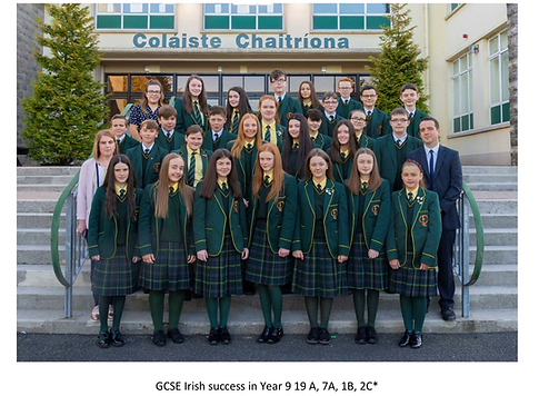 GCSE Irish success in Year 9.PNG