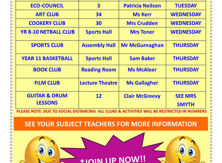 After Schools Clubs