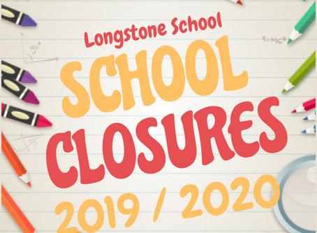 School Closures - 2019/20 Important Dates