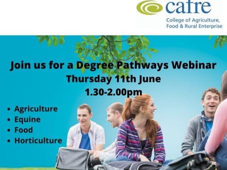 CAFRE - Degree Pathways Live Webinar