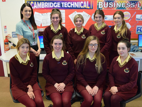 Year 13 Business Students Welcome First Derivatives