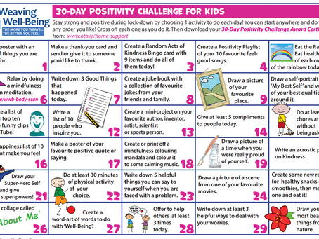 30 Day Positivity Challenge for Kids
