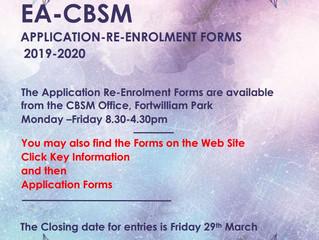 EA-CBSM Application Re-Enrolment Forms