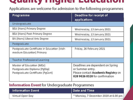 Quality Higher Education @ St Mary's University College Belfast