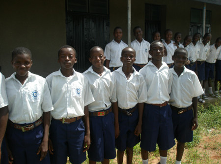 Staff and Pupils of New Secondary School