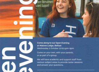 Dundee Uni Open Evening - Wednesday 2 October 2019