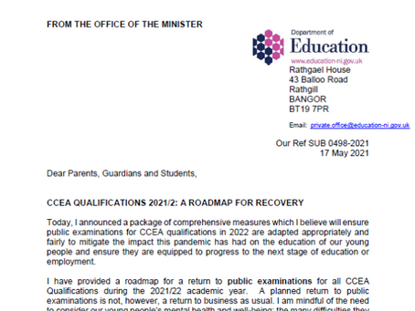 CCEA Qualifications 2021-22