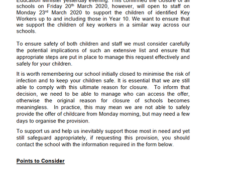 Supporting Key Workers Children