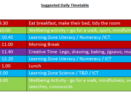 Possible Daily Timetable