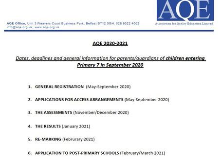 Key Dates & Deadlines 2021