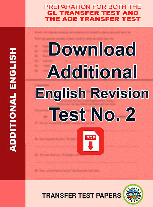 Additional English Transfer Test No 2 as PDF download