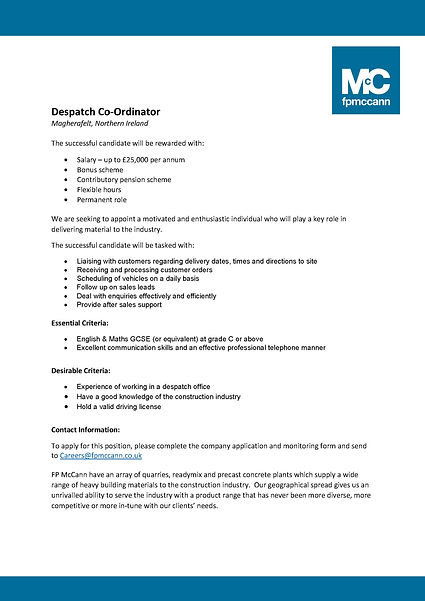 2021-05-17 - Job  Person Specification -