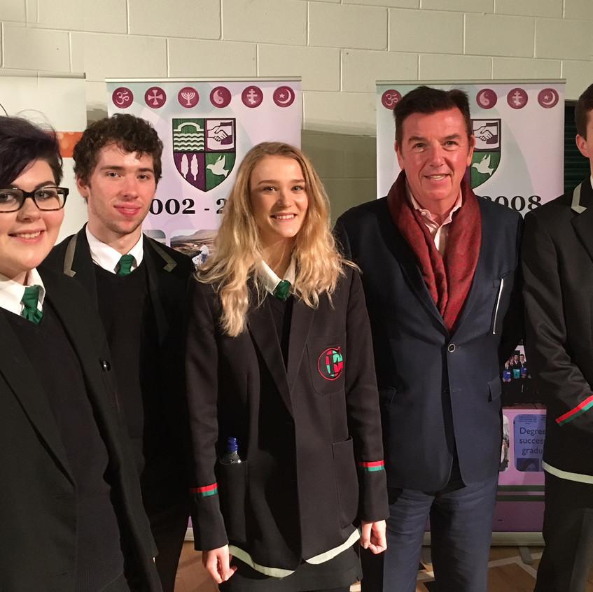 Carson awards students with Mr Tony Carson