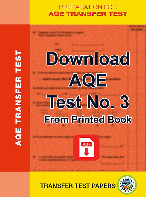 Download AQE Transfer Test no 3 for immediate use