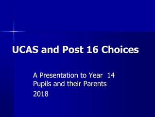 UCAS & Post 16 Choices