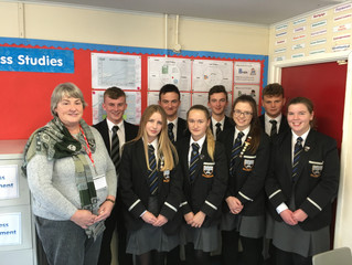 Year 12 Business Studies class welcomed Johanna Donaghy