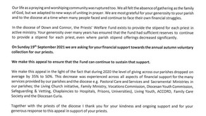 Priests' Welfare Fund Appeal Letter