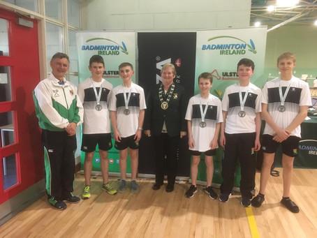 Badminton – Minor Boys win Division 1 Ulster Finals