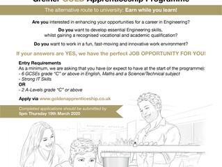 Greiner GOLD Apprenticeship Programme