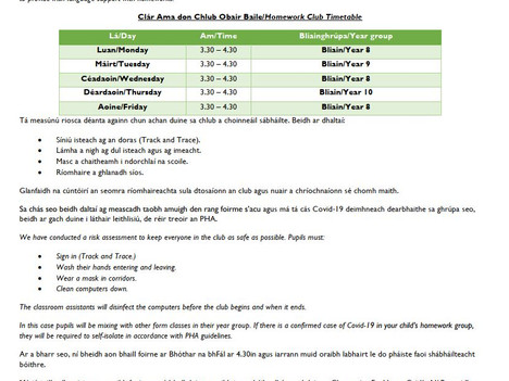 Club OB/Homework club