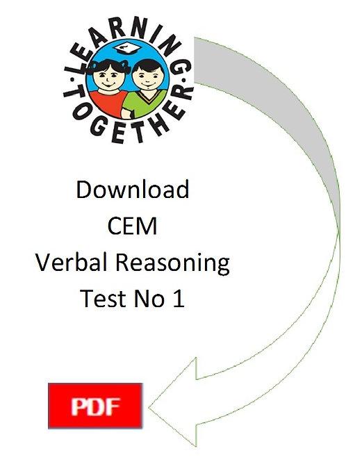 CEM 11+ Verbal Reasoning test 1